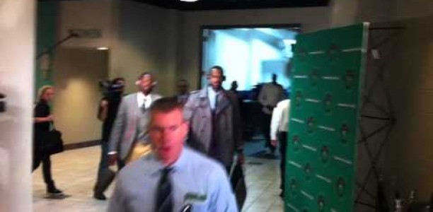 D. Wade and Lebron Arrive In Beantown